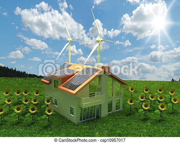El concepto de ahorro de energía - csp10957017