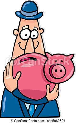 Hombre con ahorros - csp5960821