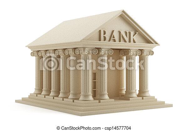 Un icono del banco aislado - csp14577704