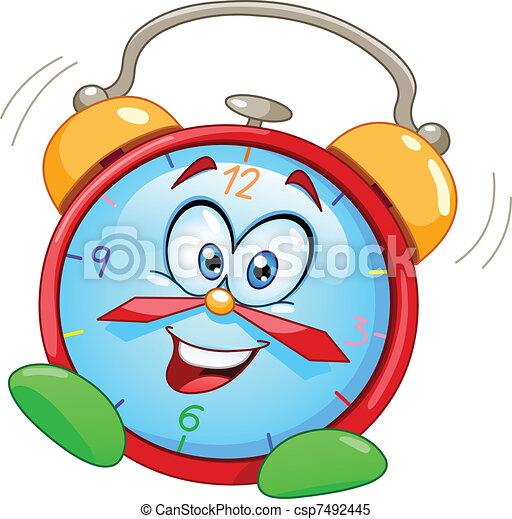 El despertador de Cartoon - csp7492445