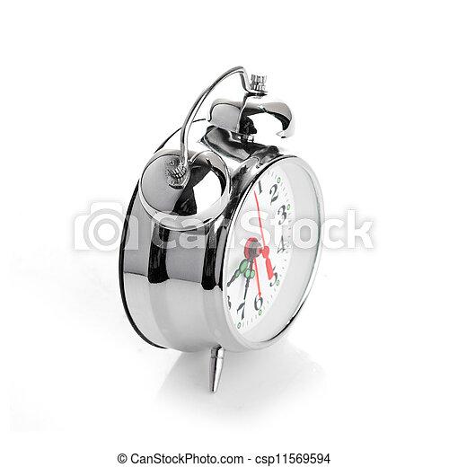 Alarma de fondo blanco - csp11569594