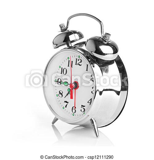Alarma de fondo blanco - csp12111290
