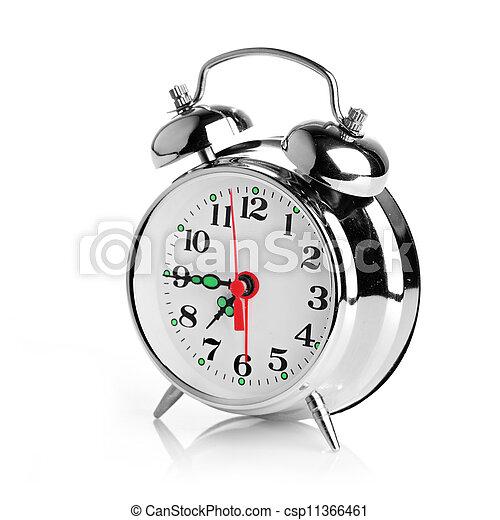 Alarma de fondo blanco - csp11366461