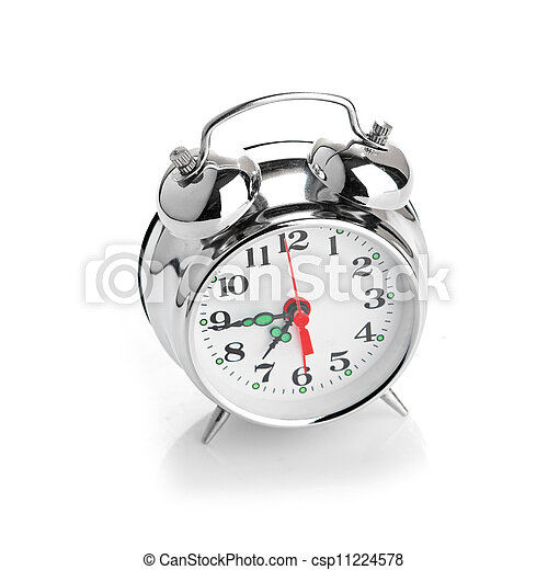 Alarma de fondo blanco - csp11224578