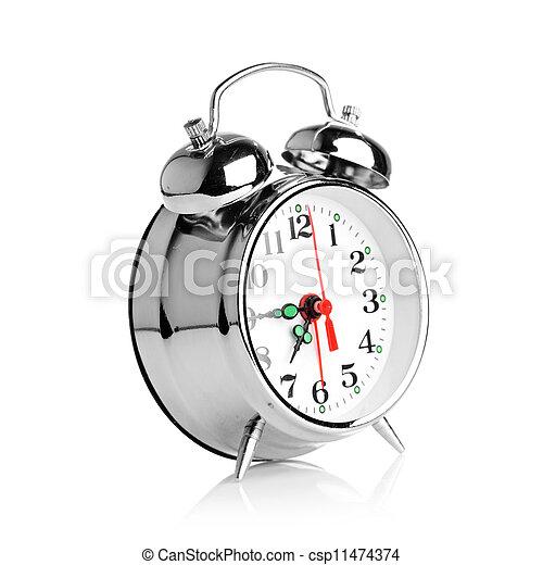Alarma de fondo blanco - csp11474374