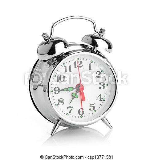 Alarma de fondo blanco - csp13771581