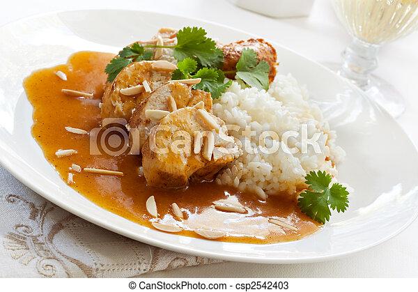 Pollo albaricoque - csp2542403