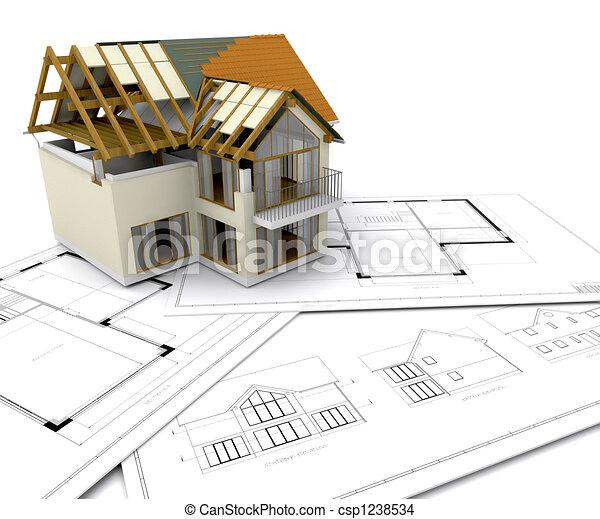 Casa en construcción - csp1238534