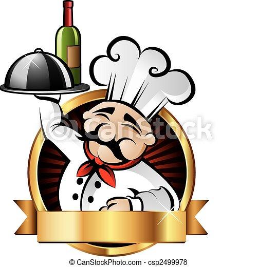 Alegre ilustración de chef - csp2499978