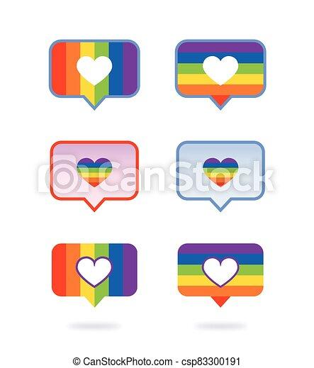 alegre, gustos, curti, rede, icone, facebook, internet, social, botao, coracao - csp83300191