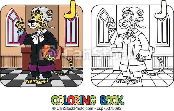 alfabeto, libro, j, jaguar, abc, colorido, juez - csp75375693