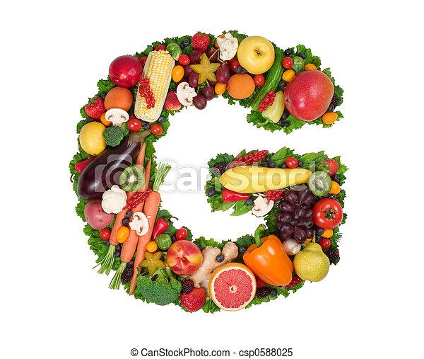 Alfabeto de salud - csp0588025