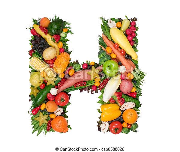 Alfabeto de salud - csp0588026