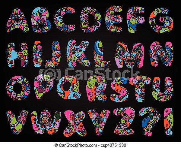 El alfabeto de dibujos animados - csp40751330