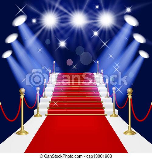 alfombra roja con escalera - csp13001903