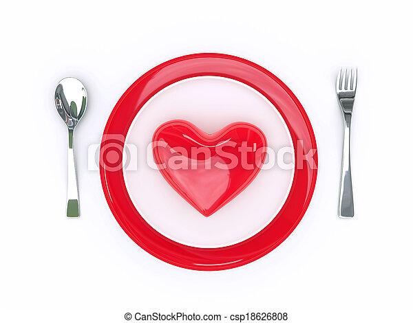 Amor de comida - csp18626808