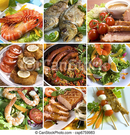 Collage de comida - csp6759983
