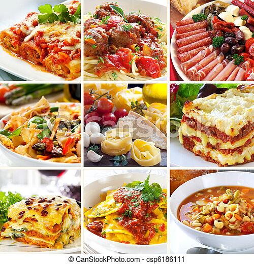 Collage de comida italiana - csp6186111