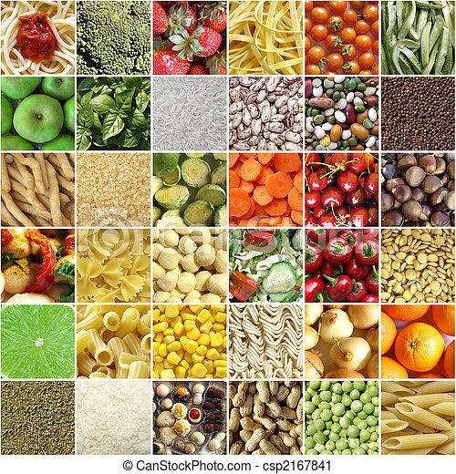 Collage de comida - csp2167841