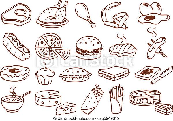 Un icono de comida - csp5949819