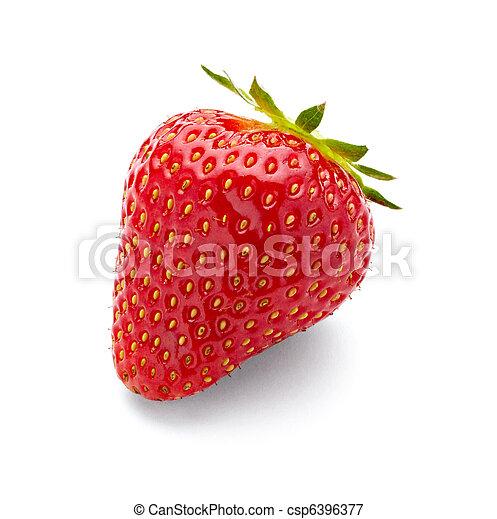 Comida de frutas de fresa - csp6396377