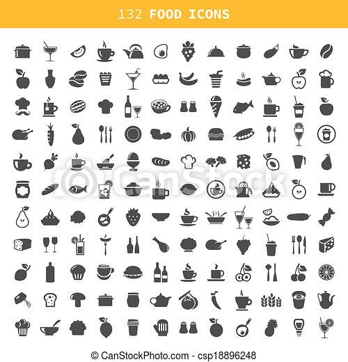 icono de comida - csp18896248
