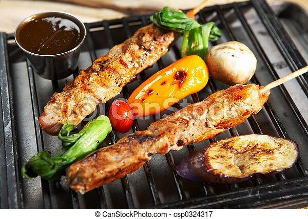 BBQ: comida para parrillas - csp0324317