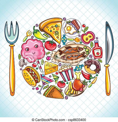 Plata con comida - csp8633400