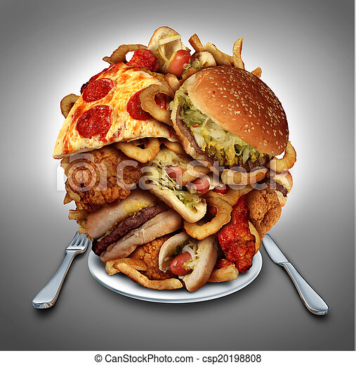Dieta de comida rápida - csp20198808