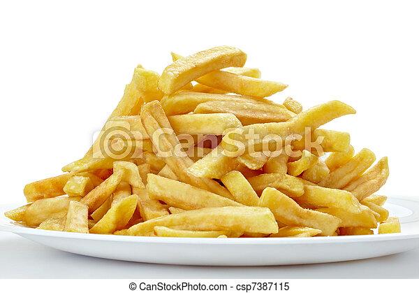 Las papas fritas no son saludables - csp7387115
