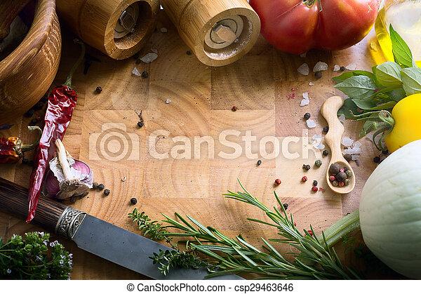 Recetas de comida de arte - csp29463646