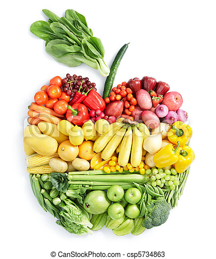 Manzana: comida saludable - csp5734863