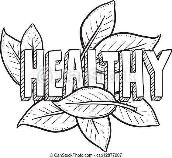 Un sketch de comida sana - csp12877207