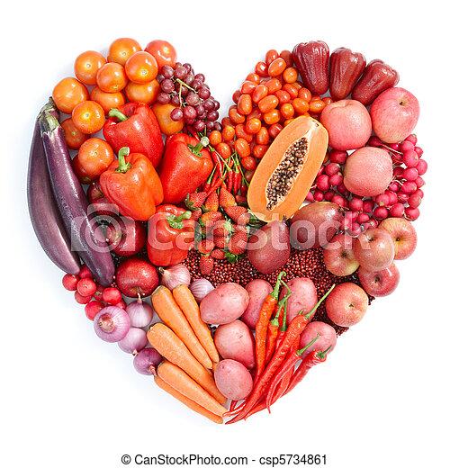 Comida sana roja - csp5734861