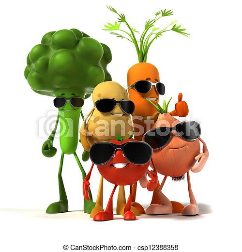 Personaje de comida: vegetal - csp12388358