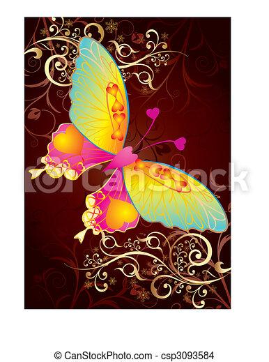 Ama a la mariposa - csp3093584