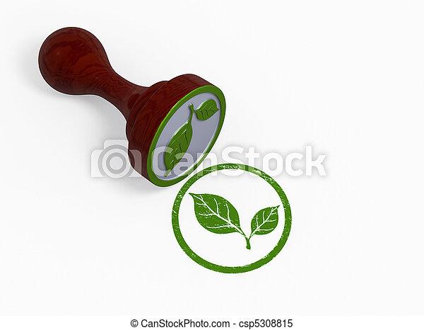 Un sello de ambiente verde - csp5308815