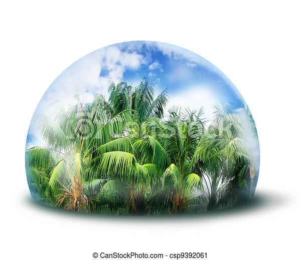 Proteger el concepto natural de la jungla - csp9392061