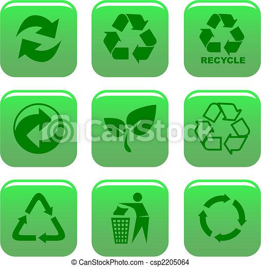 Medio ambiente y iconos de reciclaje - csp2205064