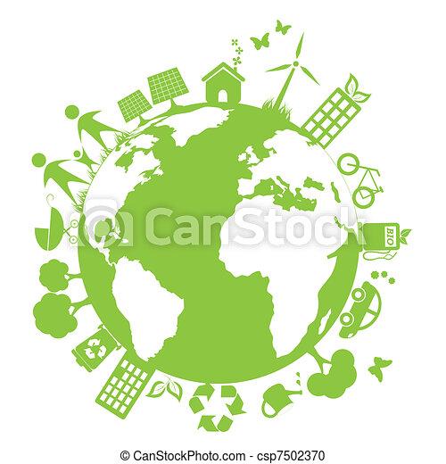 Un ambiente limpio y verde - csp7502370
