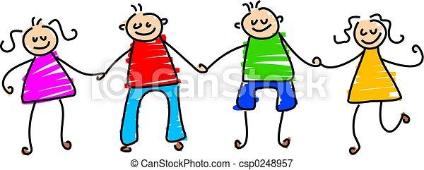 Amigos felices - csp0248957