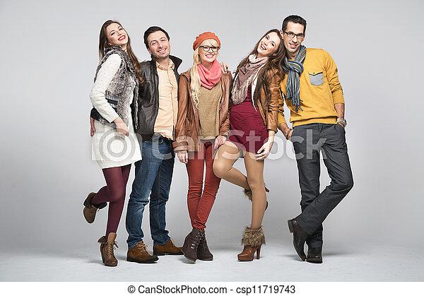 Estilo de moda de amigos - csp11719743