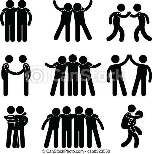Un equipo de amistad - csp8323550
