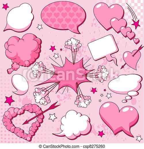 El amor habla burbujas - csp8275260