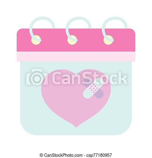 amor, feliz, corazón, lindo, vendas, triste, día, ayuda, valentines, primero - csp77180957