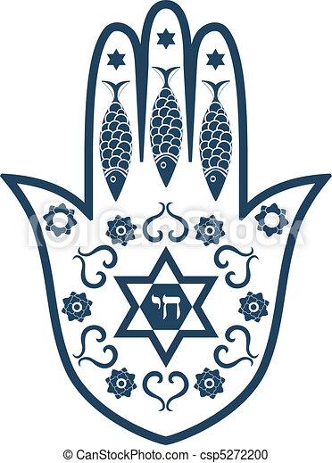 Amuleto sagrado judío, hamsa o Mir - csp5272200