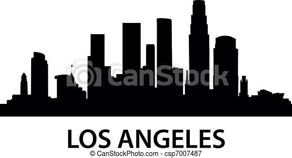 Skyline Los Ángeles - csp7007487