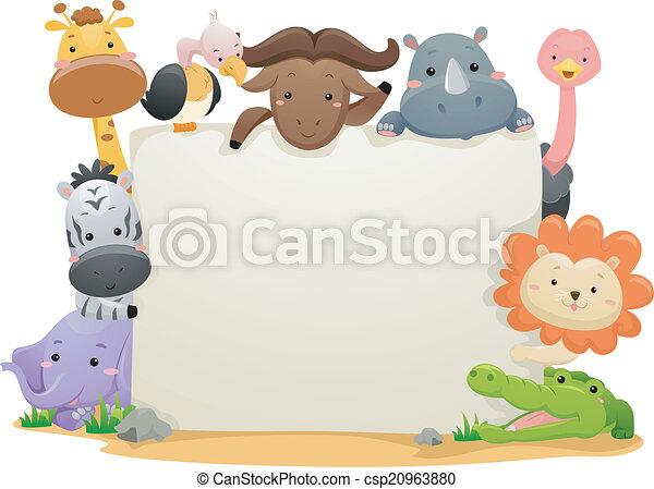 Pancarta de animales safari - csp20963880