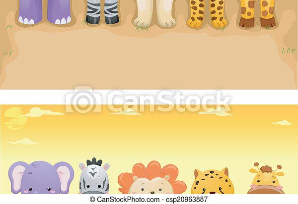 Pancarta de animales safari - csp20963887