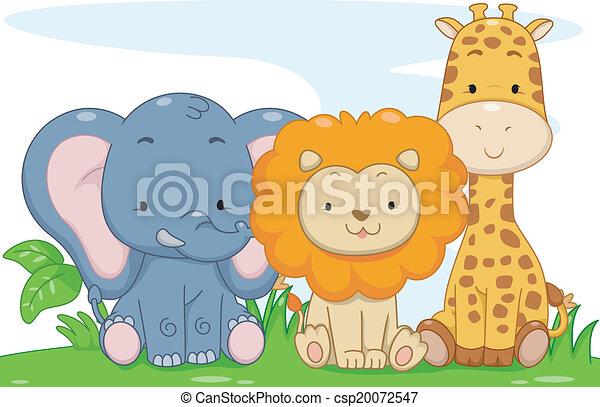 Animales de safari de bebés - csp20072547